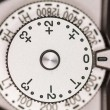 Stock Photo: Exposure compensation dial on camera