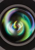 Främre delen av en kameralins — Stockfoto