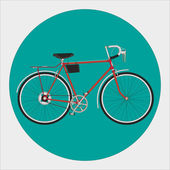Fixed gear bicycle — Stock Vector