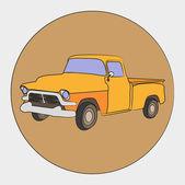 American retro pickup — Stock Vector