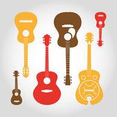 Gitarren set — Stockvektor