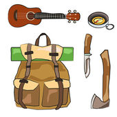 Hiking equipment 3 — Stock Vector