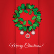 Merry Christmas card with holly — Stock Vector #33414027