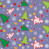 Christmas tree seamless pattern — Stock Vector