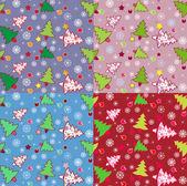 árbol de navidad de patrones sin fisuras — Vector de stock