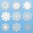 Stock Vector: Paper Snowflakes set