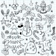 Christmas and Winter Holiday Doodles — Stock Vector