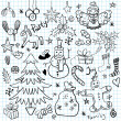 Christmas and Winter Holiday Doodles — Stock Vector #36519991