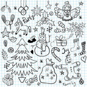 Christmas and Winter Holiday Doodles — Stock vektor