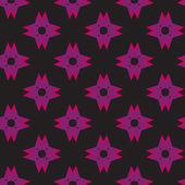Purple Shuriken Pattern on Dark — Stock Vector