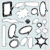 Colección de burbujas de discurso estilo cómico. — Vector de stock