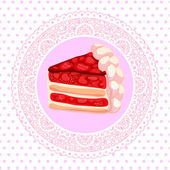 Vector strawberry cake — Stock Vector