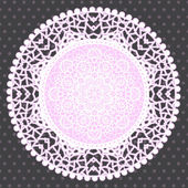Background with ornamental round lace pattern — Stok Vektör