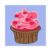 Cartoon Cupcake — Stockvector