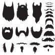 Hand drawn mustaches and beards set — Stock Vector #43386399