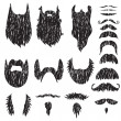 Hand drawn mustaches and beards set — Stock Vector #43386437