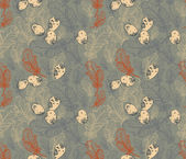 Seamless Pattern with Feathers and Eggs — Stockvektor