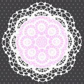 观赏圆的花边图案的背景 — 图库矢量图片