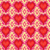 Geometric heart seamless pattern — Stock Vector