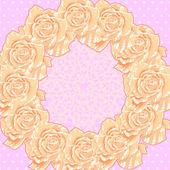 Tło z krem róż — Wektor stockowy