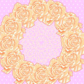 Achtergrond met crème rozen — Stockvector