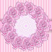 Background with Pink Roses — Stock Vector