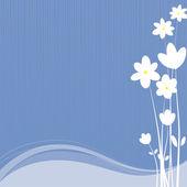 White flowers - Vector Illustration - Illustration — Stock Photo