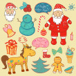 Christmas, new year set — Stock Vector #35186005