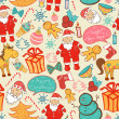 Christmas vector seamless pattern — Stock Vector