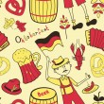 Oktoberfest seamless pattern — Stock Vector
