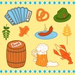 Oktoberfest icons set — Stock Vector