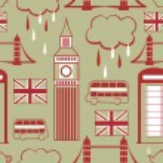 London seamless pattern — Stock Vector