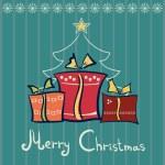 Three Christmas gift boxes — Stock Vector