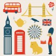 London vector set — Stock Vector