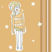 Moda kız — Stok Vektör