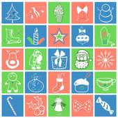 Natal ícone conjunto — Vetor de Stock