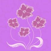 Bush flowers, vector illustration — Stock Vector