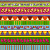 Tribal abstracte patroon — Stockvector