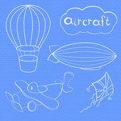 Aircrafts set — Stock Vector