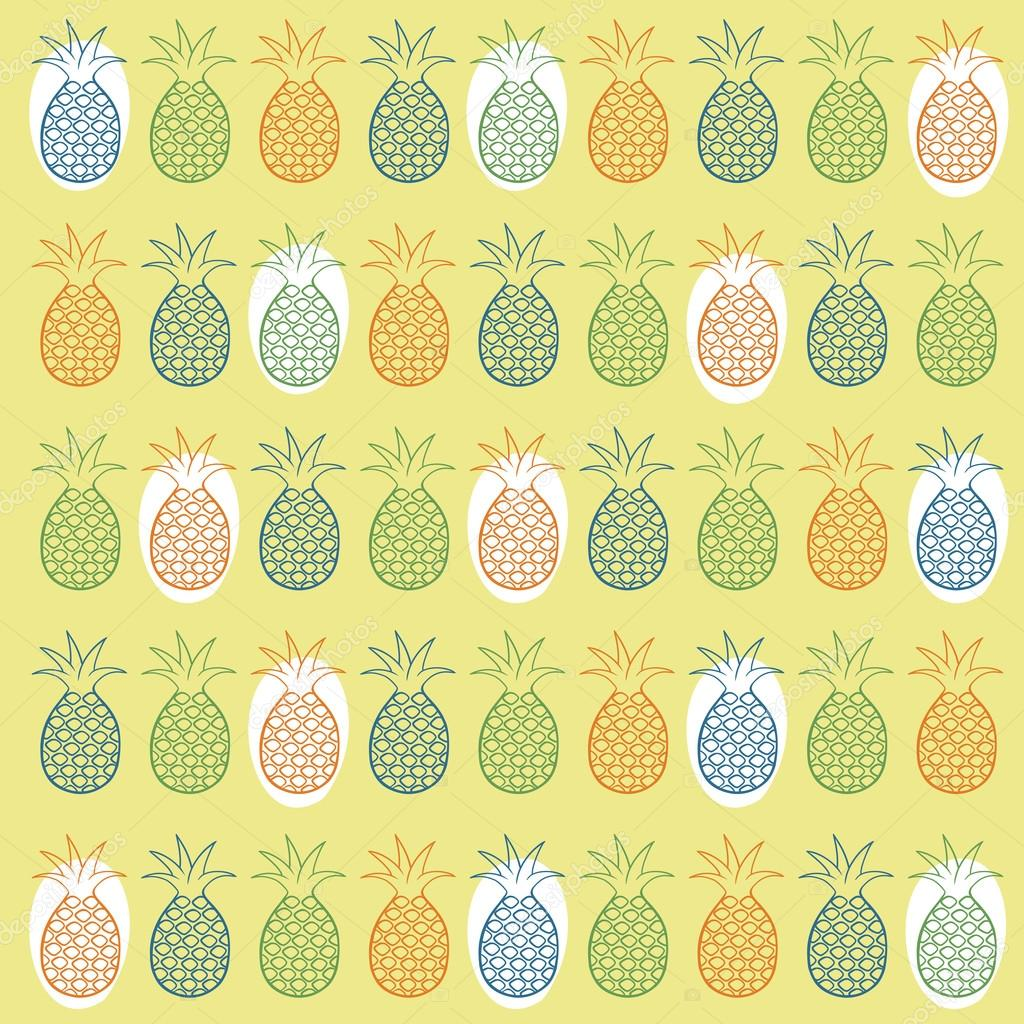 Pineapple seamless pattern — Stock Vector © meowudesign #36097529: depositphotos.com/36097529/stock-illustration-pineapple-seamless...