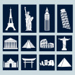 World landmarks, icons set — Stock Vector #38598019