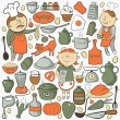 Kitchen vector set — Stock Vector