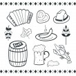 Oktoberfest icons set — Stock Vector #38598281