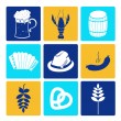 Oktoberfest icons — Stock Vector