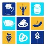 Oktoberfest icons — Stock Vector
