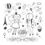 Romantic wedding collection — Stock Vector