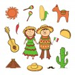 Mexicicon vector set — Stock Vector #38599299