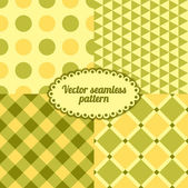 Basit vektör seamless modeli ayarla — Stok Vektör