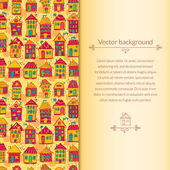 Houses pattern for template card — Wektor stockowy