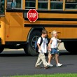 Kids Getting Off Bus — Stock Photo #32717265